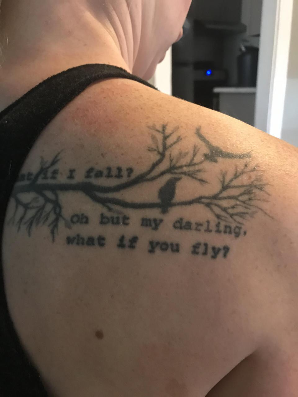 I was thinking about adding to this by making the branches extend onto my shoulder. I would just like to add to it in some way. Any advice or insight if this is even possible?