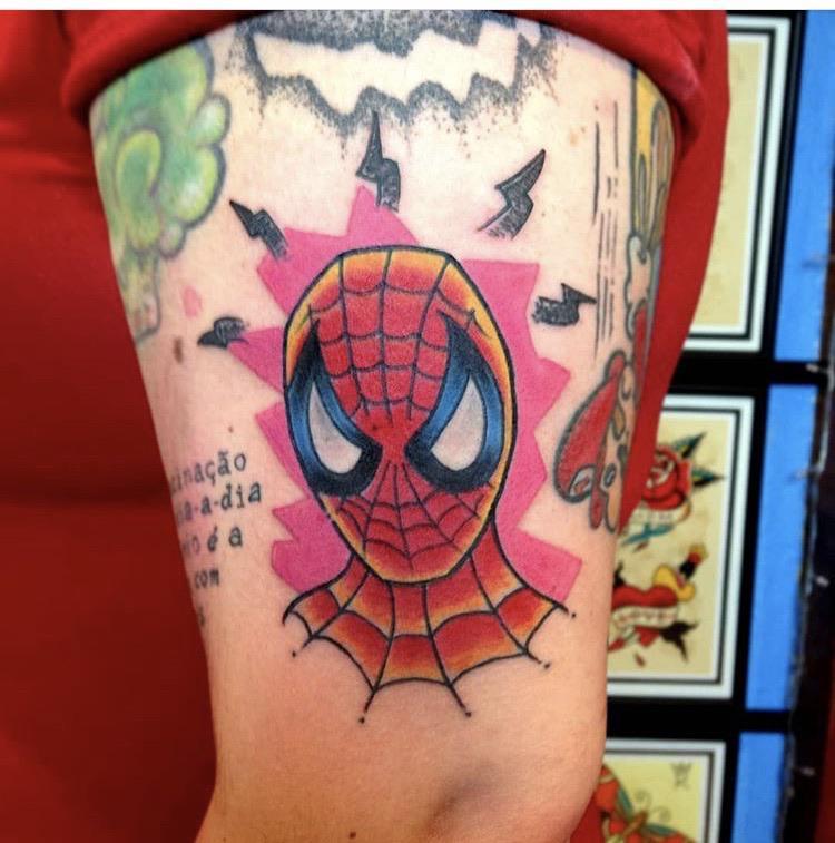 Spider-Man by @candidotattoo in Porto Alegre, Brazil