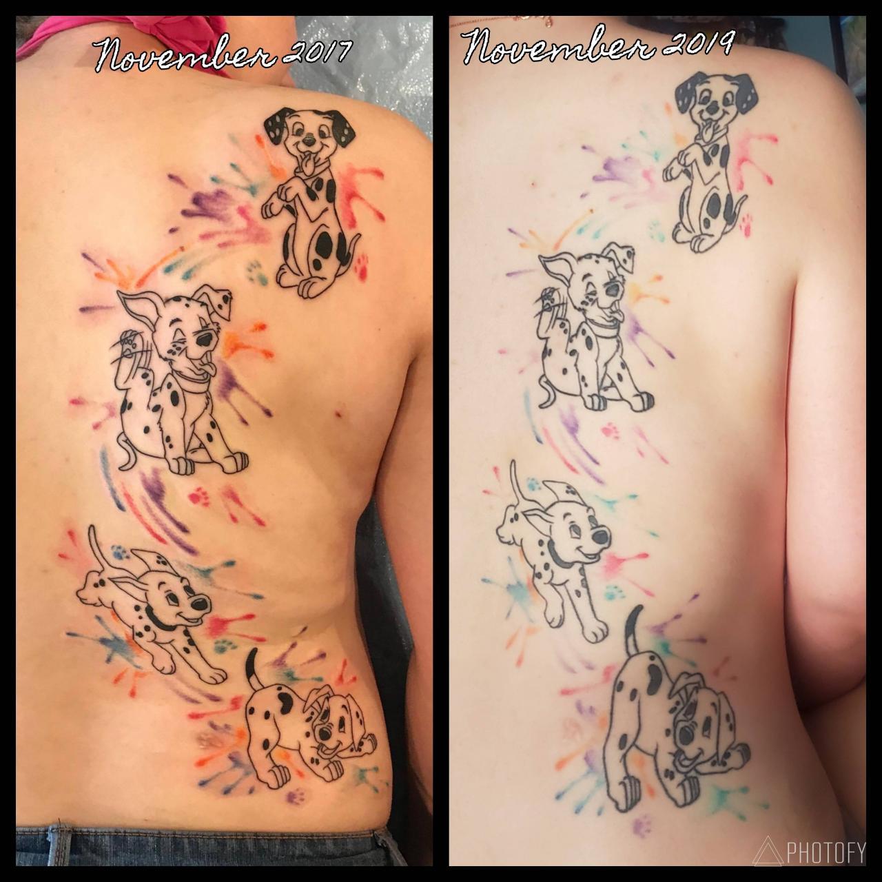 2yr Healed Comparison- done by Al Lyttle of Stutter Tattoo in Lake Havasu City, AZ