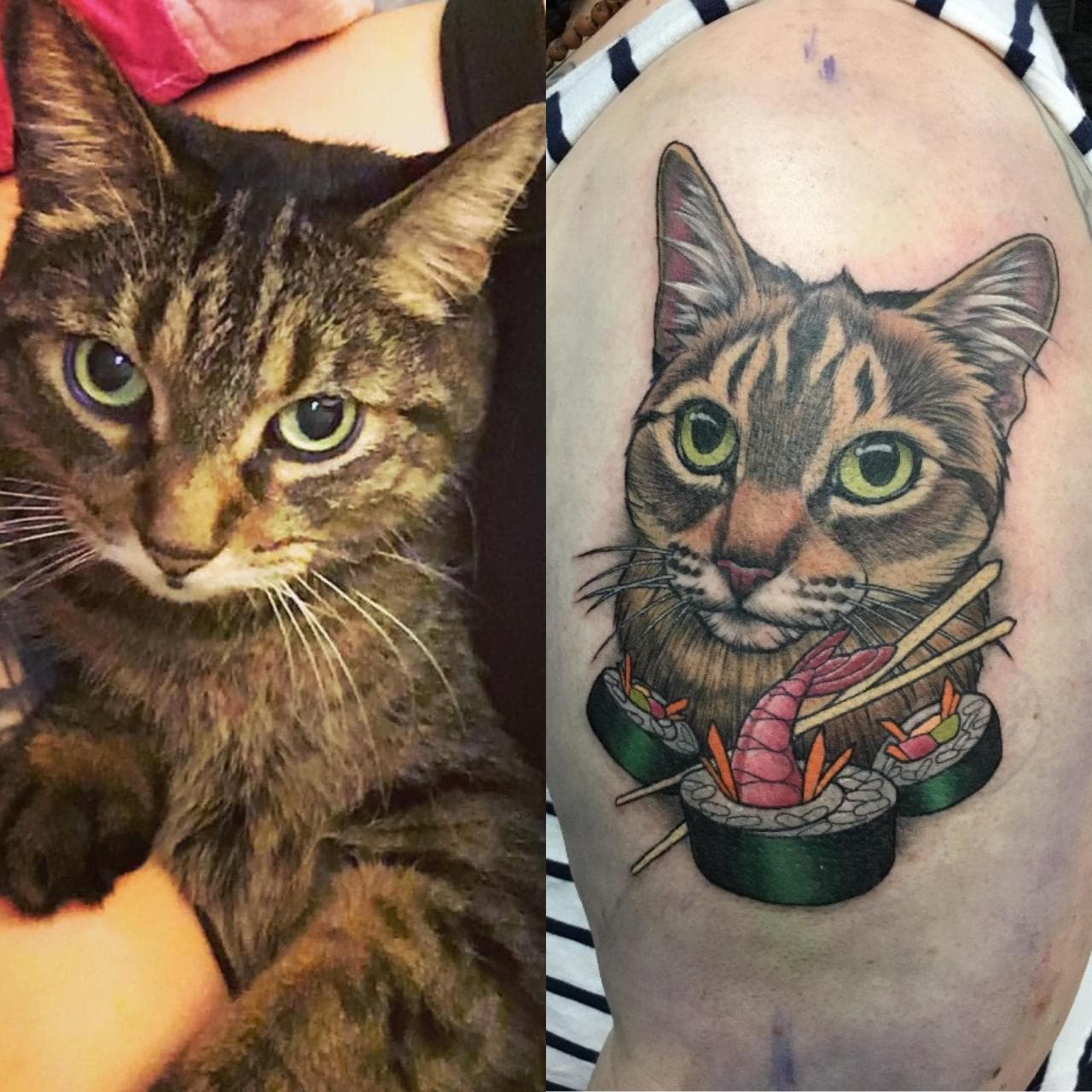 Got a tribute to our late matriarch, Sushi. Artist nailed it! (Eastern Ontario peeps, check out Sarah at Astral Tiger Studios, she is a beautiful person and a gifted artist.)