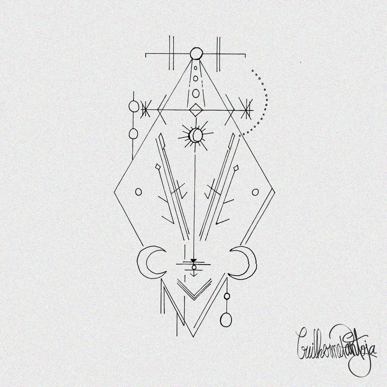 Geometry Tattoo Design i did for a Client