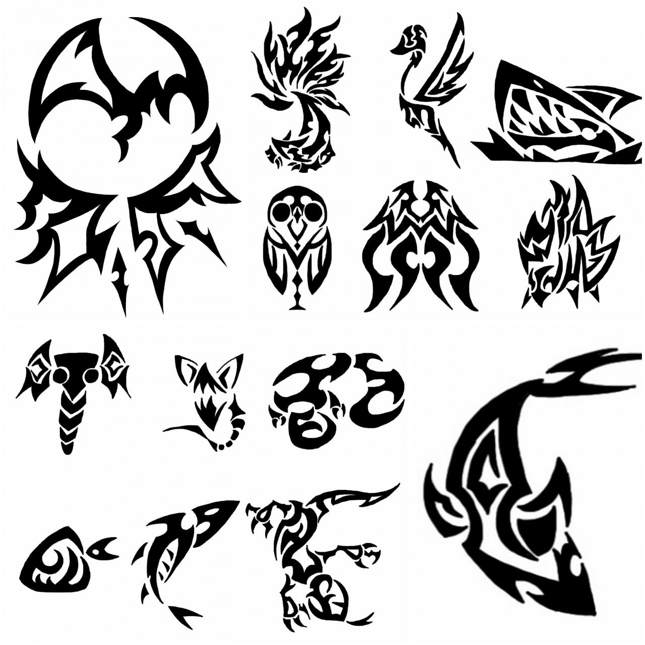 Simple Tatoo Designs Available to draw