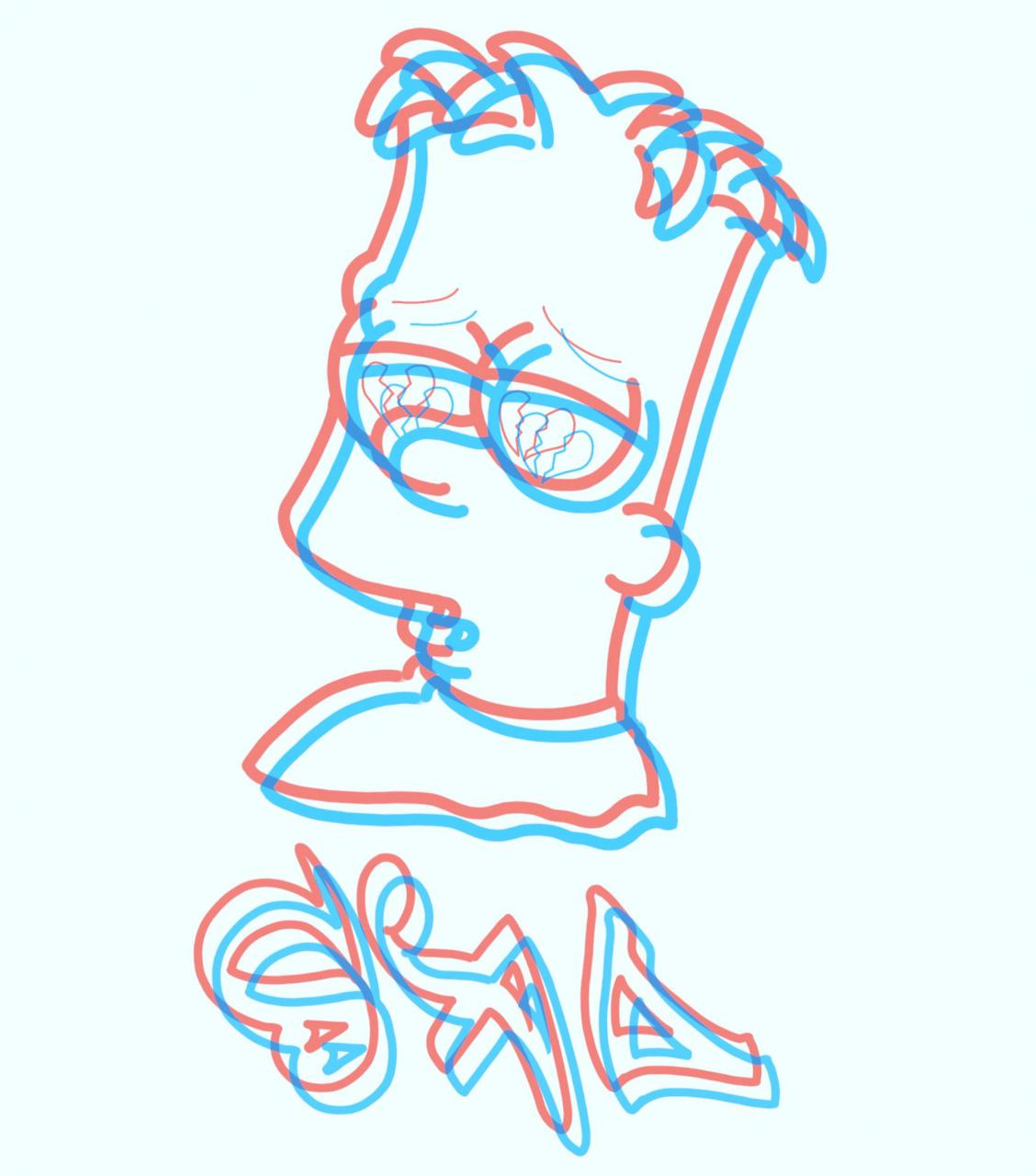Just doodling on procreate. I think I'm going to do a whole retro 3-D Simpson's flash sheet soon.