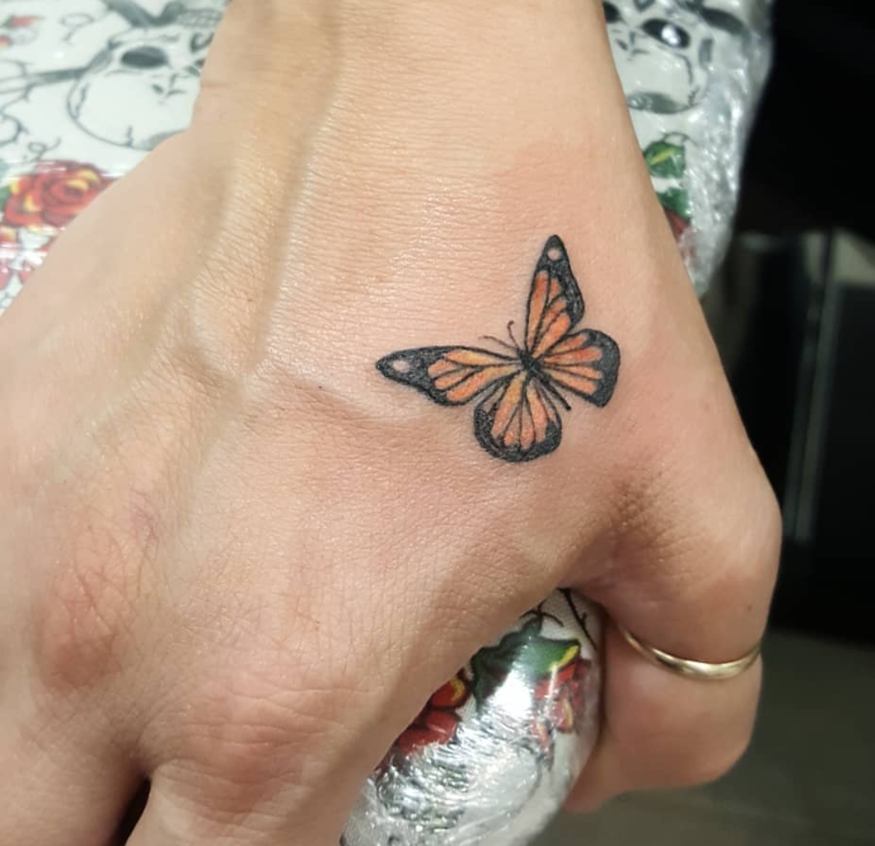 The tiniest little butterfly I did (Jacqueline Schiller, New Age Tattoo, Toronto, Ont.)
