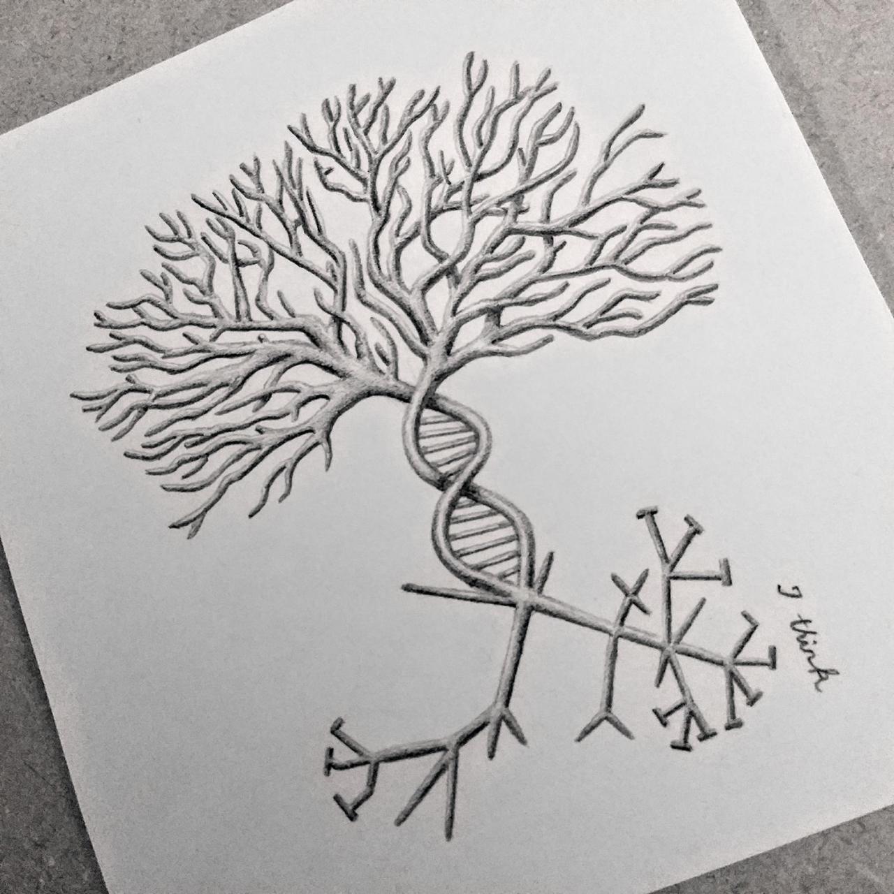 Tree of Evolution tattoo design I made