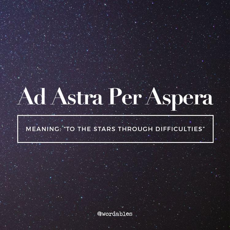 "Hi guys! I'm getting this tattoo and I'm confused as I see ""per ASPERA ad astra"" instead for ""ad astra per ASPERA"" which is which?"