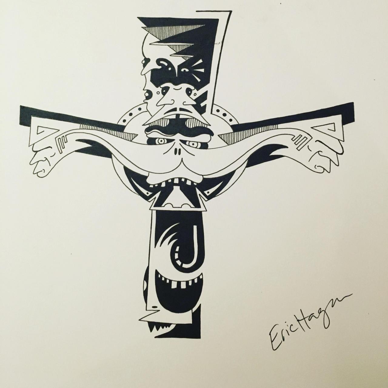 Celtic Cross I just drew for someone