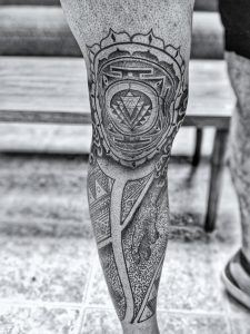My WIP Leg Sleeve [Front View] - By Ben Hoteling @ The Missing Piece, Spokane WA.