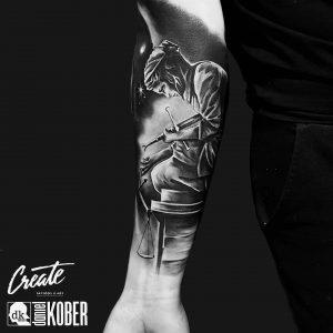 My inner-under Arm tattoo. Made by Daniel Kober