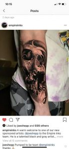 This is my arm, done by @joeshepp and a special thanks to @empireink for this post.