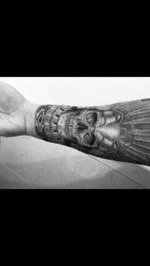 Aztec eagle warrior! Favorite piece on my arm