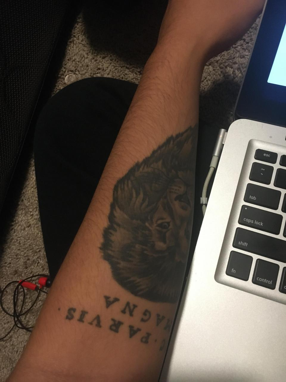 Looking to add another piece on the back of my forearm. Any ideas to complement the lion??