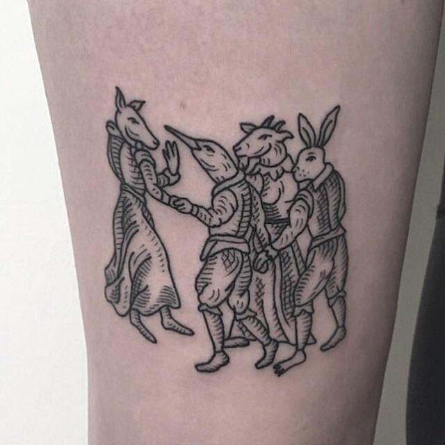 Got my leg tattooed today by @yallerybrowntattoo on insta