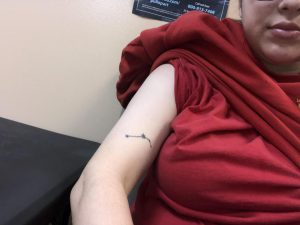 Hey so I got this Aries constellation tattoo about last year and I truly hate it. I never have my arms out :( . Want to get it covered up this weekend, any ideas or suggestions? I'm open.