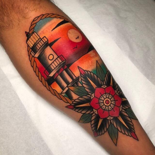 Starting out leg sleeves strong. Done by Chris Papadakis at Moth and Rose tattoo in Athens, Greece.