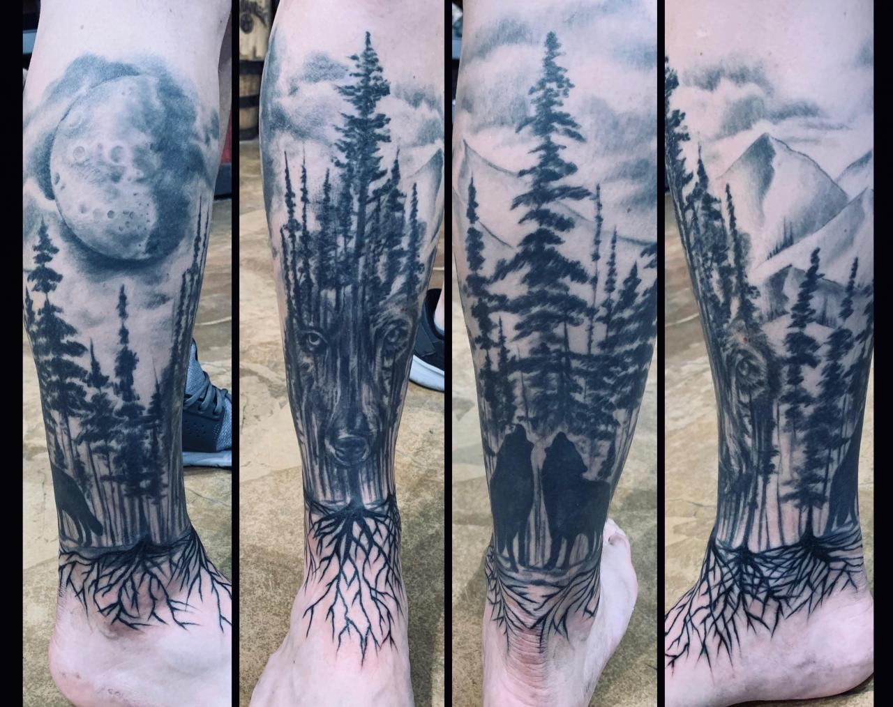 Leg Is finished, all by Brandee at Native Ink in Elwood, Indiana
