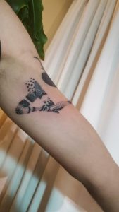 Little legs on my arm. ( done by anomia.tattoo, Cba, Arg )