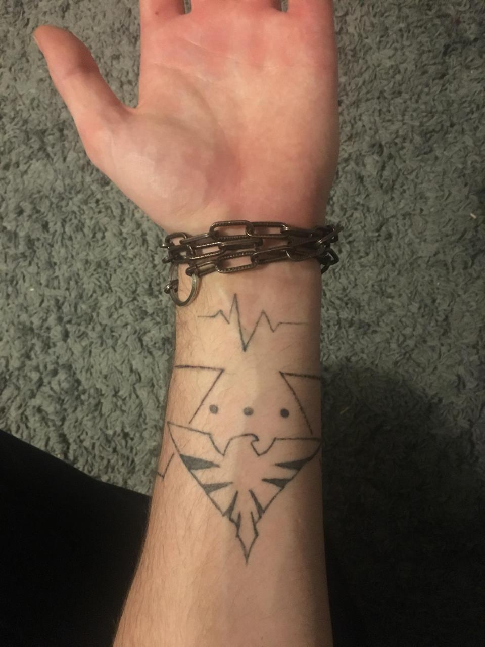 Tattoos on my left arm. Did them myself. What do you think?
