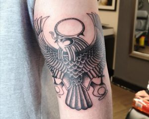 More great work from Asma @ Manhattan Ink Aylesbury. Cute Horus piece which sits really nice on the back of my arm!