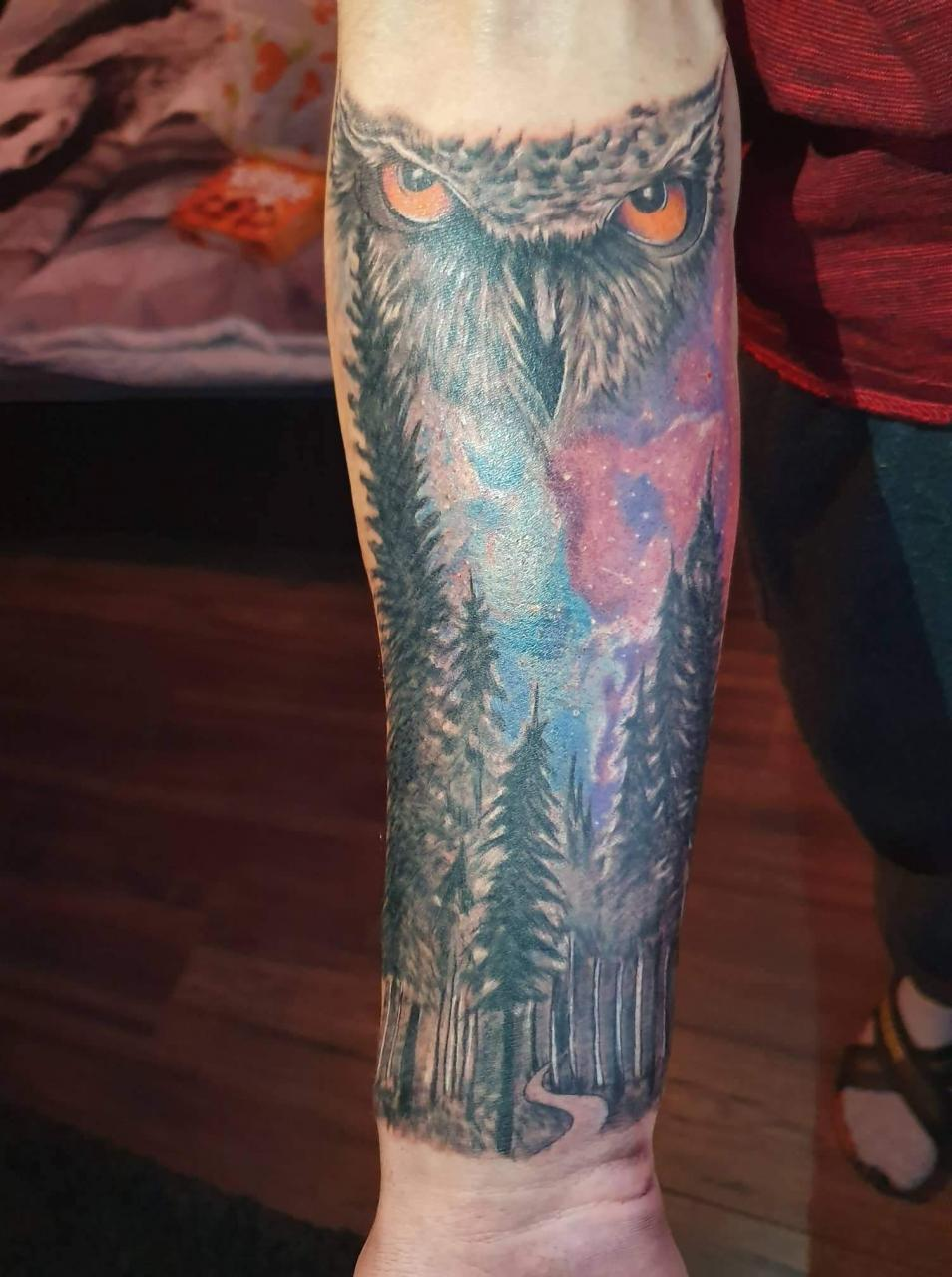 Hello, i got Recently my first tattoo and i wanna continue my arm with this forest kind of theme if anybody got any good ideas pls don't hold Back :) (sry for bad eng)