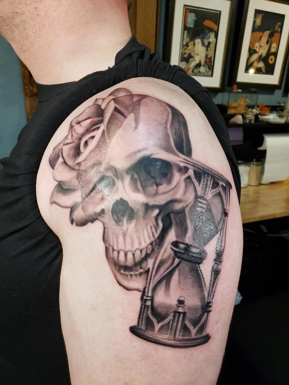New piece on my left arm. Done by Tim Orth at Leviticus in Minneapolis, MN