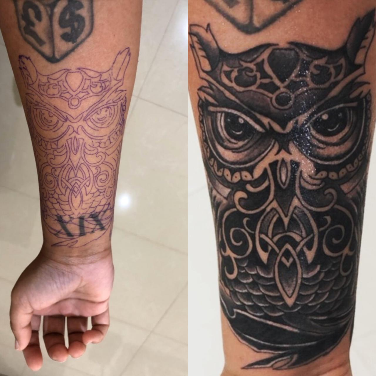 My lower arm cover up done by a Hong Kong artist called Ujo