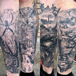 My half leg sleeve, 6 months healed from Josh Reynolds, Mindbender, OKC
