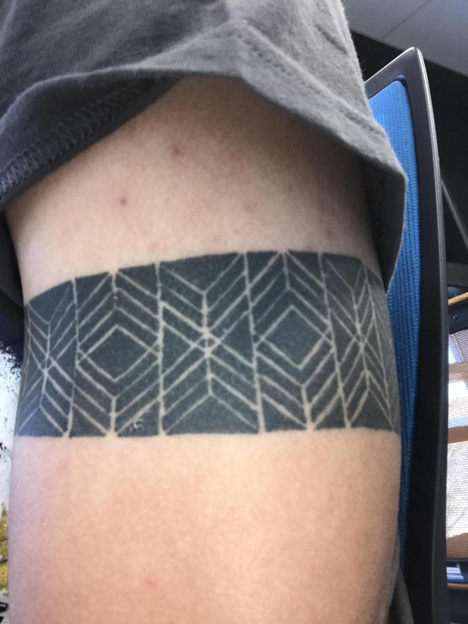 Have had this since April 2019, it wraps all the way around my upper left arm. Thoughts?
