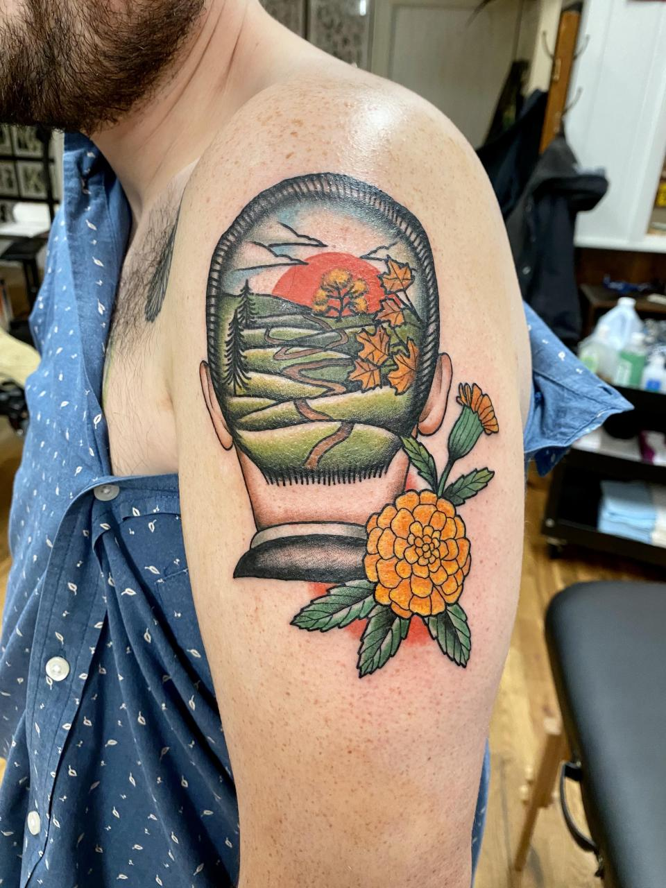 My new arm piece done by Redbeard at Good Land Tattoo in Milwaukee, WI