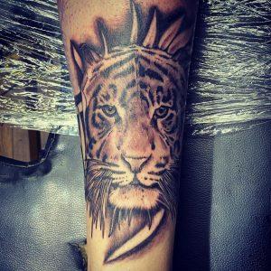 Finally started my leg sleeve! By Eire Stonelake at Stay True Tattoo, Denton England