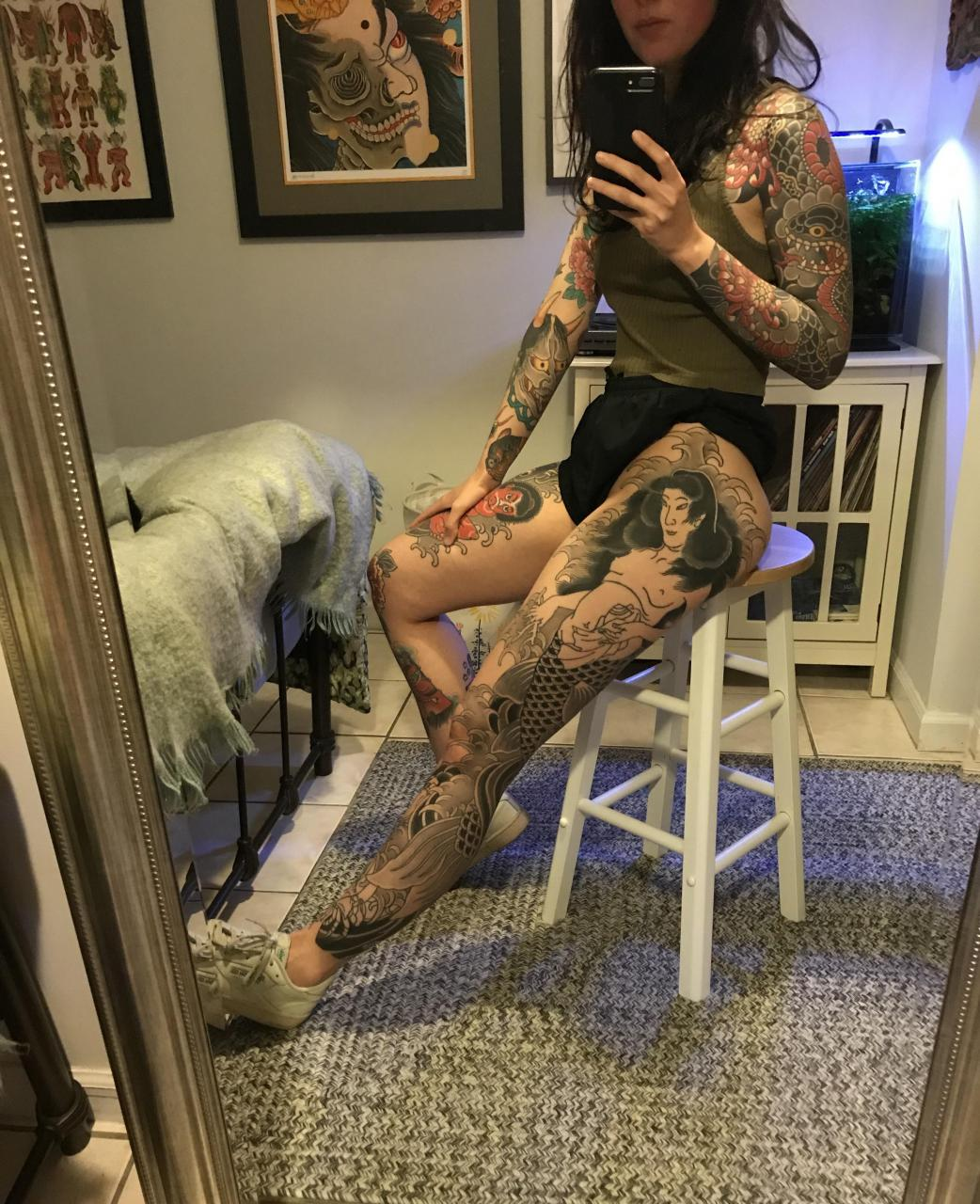 Part of my leg sleeve by RG, Invisible NYC. Progress posts and other Japanese tattoos on r/irezumi