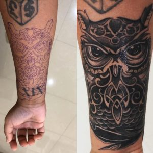 My lower arm cover up done by a Hong Kong freelance artist called Ujo