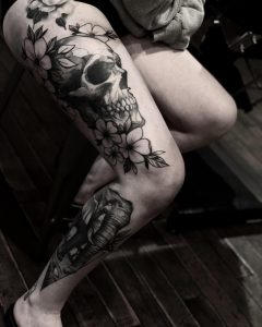 Made a little more progress on this leg sleeve today I started during my apprenticeship!