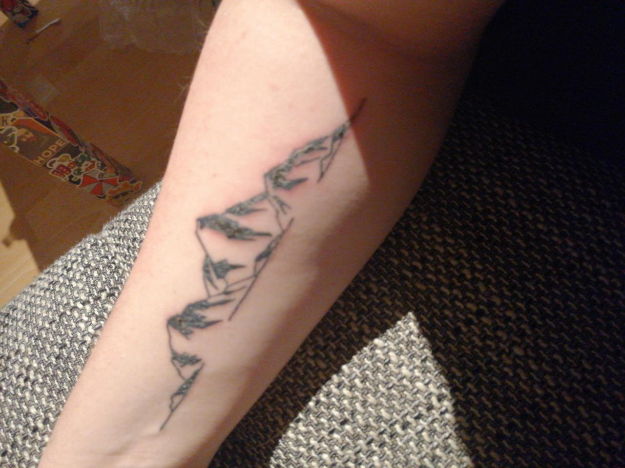 First tattoo. Starting with a little one and soon my armes will be fully artistically painted