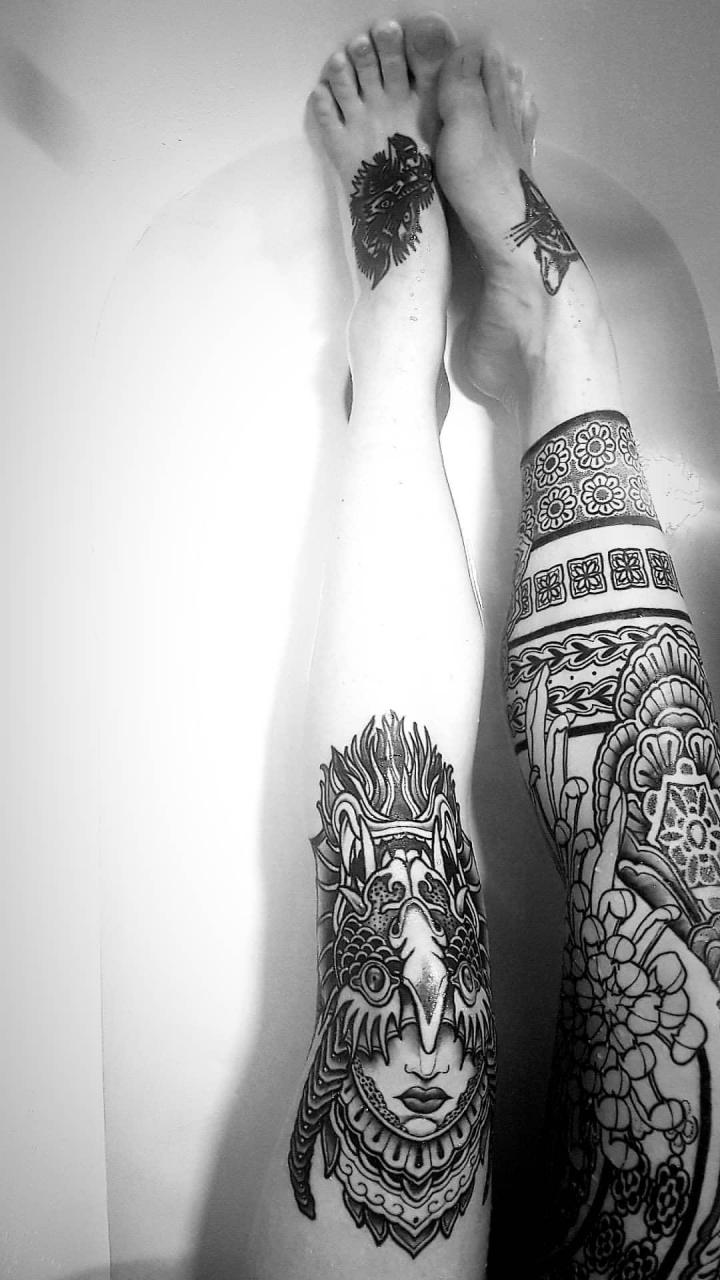 new inked legs by Paulo. Studio Merentis, Stockholm