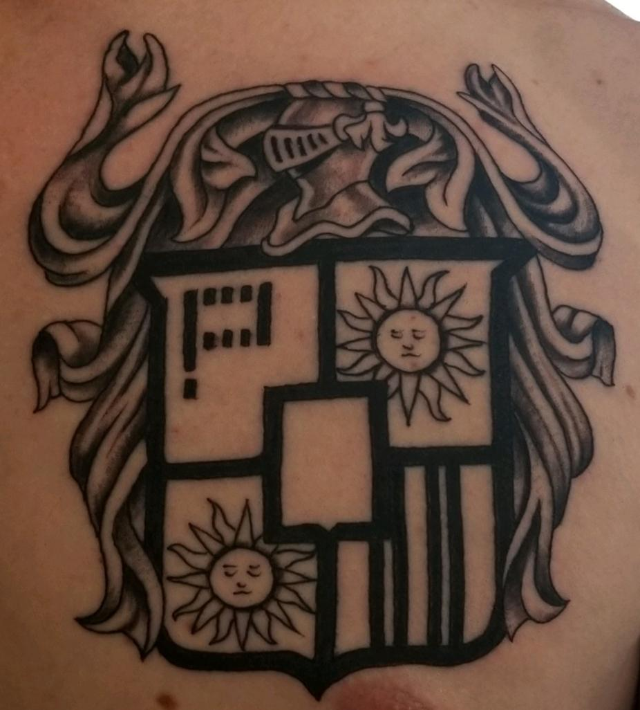Family Coat of Arms by Luke at West Coast Tattoo Parlor in Las Vegas