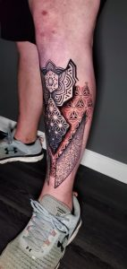 The start of my leg sleeve - Tattoo by Dillon Land in Lubbock, TX @dillons.land