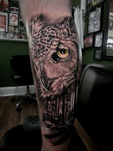 Left outside leg, Marco @ outer beauty ink Sandwich, IL