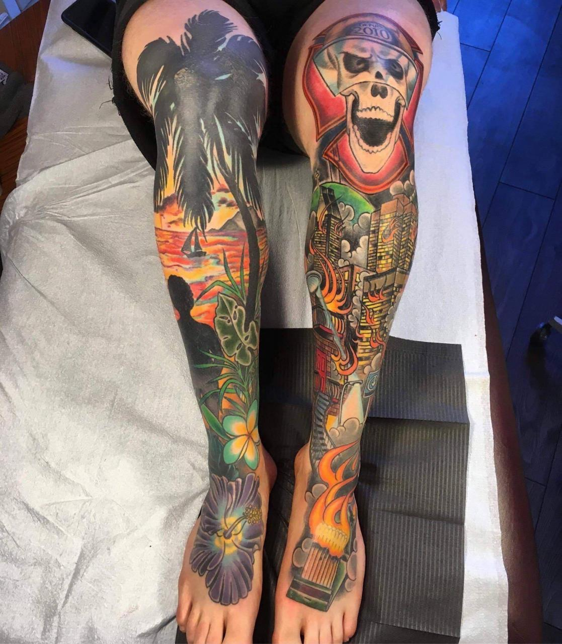 Figured it was time to participate... both my legs done by Reb Guinard at glamort tattoo in Montreal