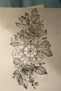 My tattoo design based off the wheel of fortune tarot card. Let me know what you think!