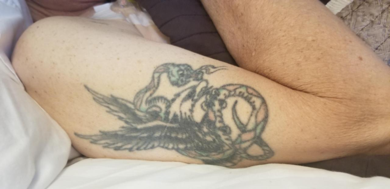 How best to 'update' my dads tattoo for my own body, deets in comments