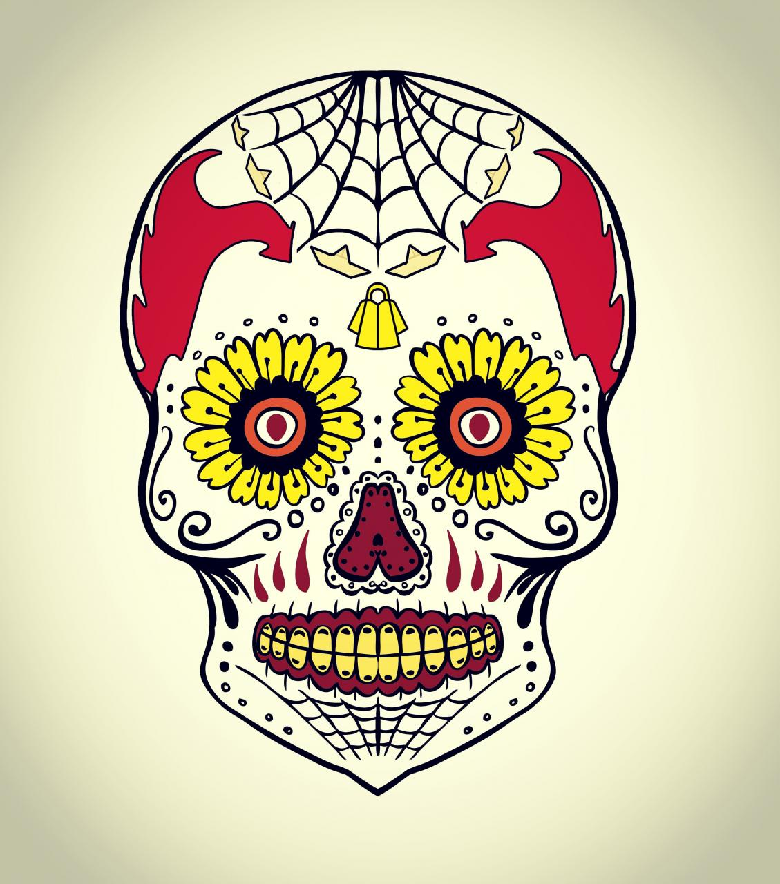 Finally finished my other Pennywise design - Dia de los Muertos!