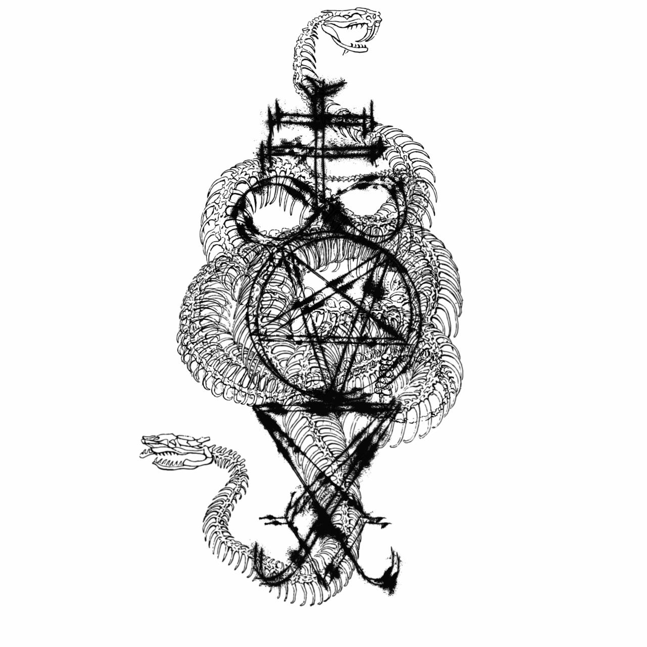 the leviathan cross, the inverted pentagram and the sigil of Lucifer - custom design for a badass redditor - PM for custom designs