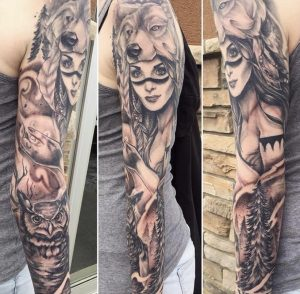My first sleeve back in 2016 by Sarah Michelle at Black Gold Tattoo, Edmonton Alberta