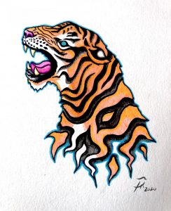 Starting to build up my tattoo portfolio. Thoughts on my tiger design?