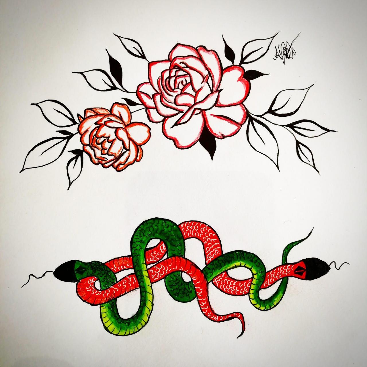Rose & Snakes