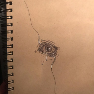 "Apologies for the bad photo quality, but I thought some of you here might like this little old sketch I did. Found my old sketchbook today and thought ""that could be a dope tattoo""."