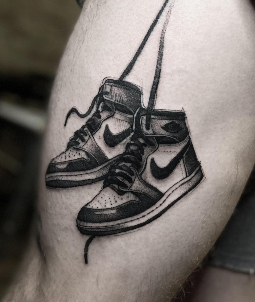 85 Air Jordan 1 piece by me (Max LaCroix) from Empire Inks Studio in Appleton, WI