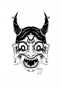 Designed this Hannya Mask last night! What do you guys think?