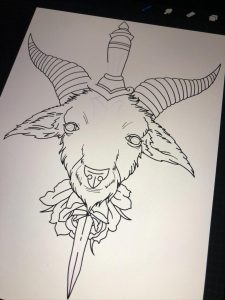 I'm needing some help with a different idea. My client had a change of heart and doesn't want a dagger and rose. Any advice on what I could add to it instead ?